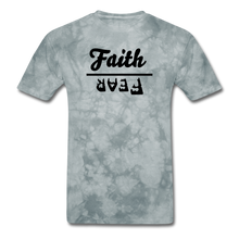 Load image into Gallery viewer, Faith over Fear Mineral Tee - grey tie dye