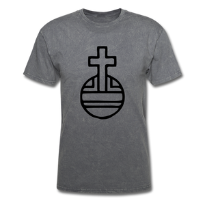 Sovereign Cross Mineral Tee - mineral charcoal gray