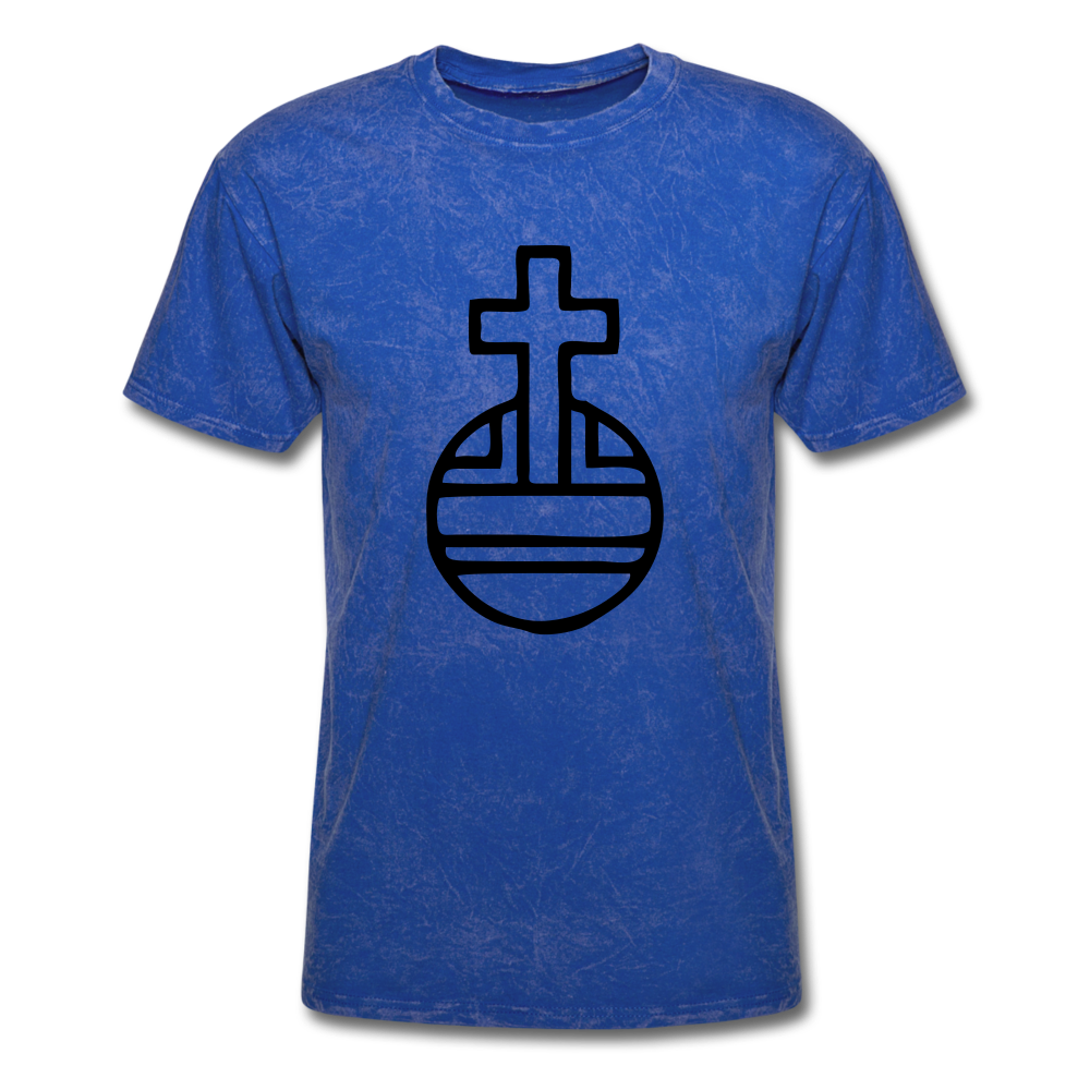 Sovereign Cross Mineral Tee - mineral royal