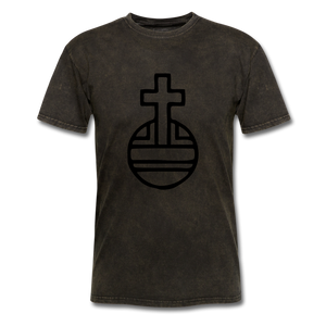 Sovereign Cross Mineral Tee - mineral black