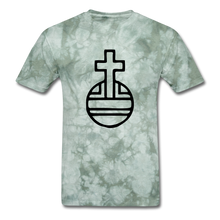 Load image into Gallery viewer, Sovereign Cross Mineral Tee - military green tie dye