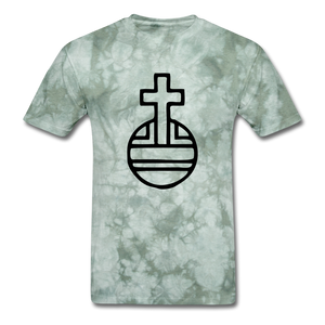 Sovereign Cross Mineral Tee - military green tie dye