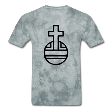 Load image into Gallery viewer, Sovereign Cross Mineral Tee - grey tie dye