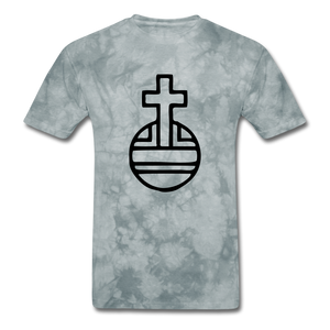 Sovereign Cross Mineral Tee - grey tie dye