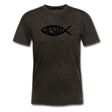 Load image into Gallery viewer, Jesus Fish Mineral Tee - mineral black