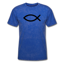 Load image into Gallery viewer, Blank Jesus Fish Mineral Tee - mineral royal