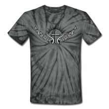 Load image into Gallery viewer, Winged Cross Tie Dye Tee - spider black
