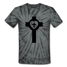 Load image into Gallery viewer, Lutheran Cross Tie Dye Tee - spider black