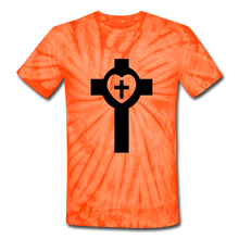 Load image into Gallery viewer, Lutheran Cross Tie Dye Tee - spider orange