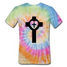 Load image into Gallery viewer, Lutheran Cross Tie Dye Tee - rainbow