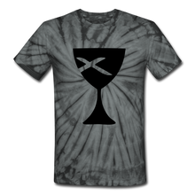 Load image into Gallery viewer, Communion Cup Tie Dye Tee - spider black