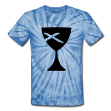 Load image into Gallery viewer, Communion Cup Tie Dye Tee - spider baby blue