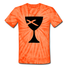 Load image into Gallery viewer, Communion Cup Tie Dye Tee - spider orange