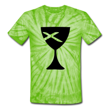 Load image into Gallery viewer, Communion Cup Tie Dye Tee - spider lime green