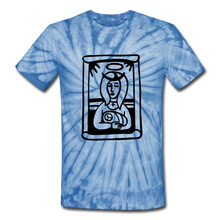 Load image into Gallery viewer, Mother Mary Tie Dye Tee - spider baby blue