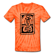 Load image into Gallery viewer, Mother Mary Tie Dye Tee - spider orange