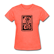Load image into Gallery viewer, Mother Mary Women's Tee Bright Heather - heather coral