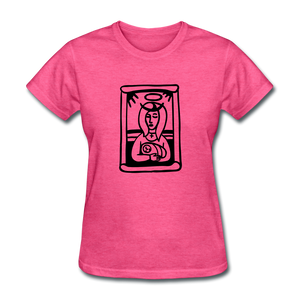 Mother Mary Women's Tee Bright Heather - heather pink
