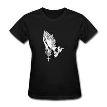Load image into Gallery viewer, Praying Hands Women's Tee - black