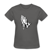 Load image into Gallery viewer, Praying Hands Women's Tee - charcoal