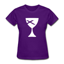 Load image into Gallery viewer, Communion Cup Women's Tee Dark - purple