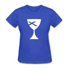 Load image into Gallery viewer, Communion Cup Women's Tee Dark - royal blue