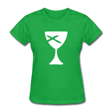 Load image into Gallery viewer, Communion Cup Women's Tee Dark - bright green