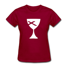 Load image into Gallery viewer, Communion Cup Women's Tee Dark - dark red