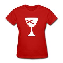 Load image into Gallery viewer, Communion Cup Women's Tee Dark - red