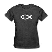 Load image into Gallery viewer, Cross Fish Women's Heather Tee - heather black