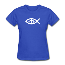 Load image into Gallery viewer, Three Crosses Women's Dark Tee - royal blue