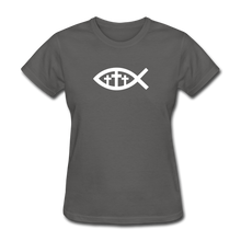 Load image into Gallery viewer, Three Crosses Women's Dark Tee - charcoal