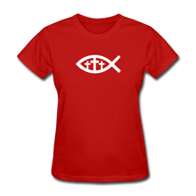 Load image into Gallery viewer, Three Crosses Women's Dark Tee - red