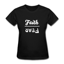 Load image into Gallery viewer, Faith over Fear Women's Dark Tee - black