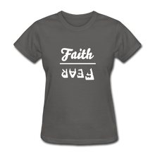 Load image into Gallery viewer, Faith over Fear Women's Dark Tee - charcoal