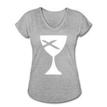 Load image into Gallery viewer, Communion Cup Women's Heather V-Neck Tee - heather gray