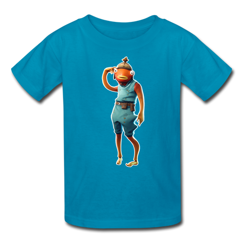 Tiko Kid's Fortnite Video Game T-Shirt - turquoise