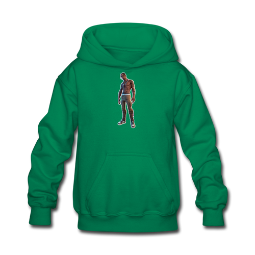 Travis Scott Kid's Hoodie Fortnite Video Game Sweatshirt - kelly green