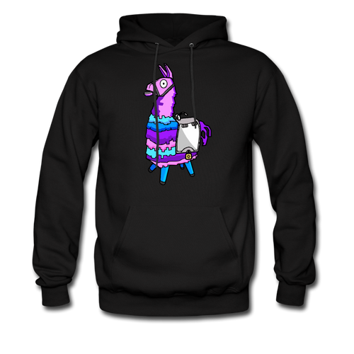 Loot Llama Hoodie Fortnite Video Game Sweatshirt - black