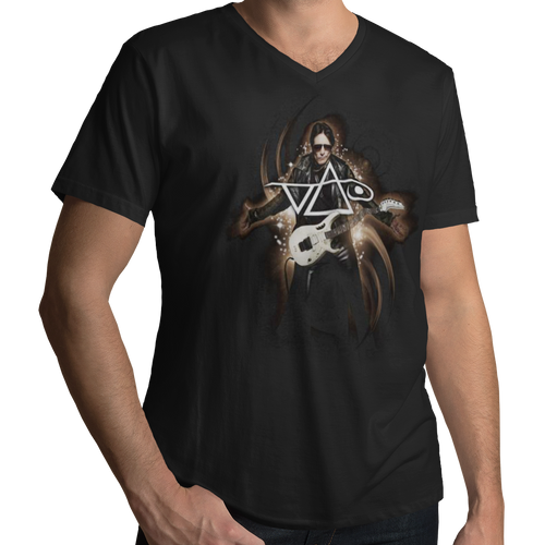 Steve Vai Vai Guitar V Neck Band T-Shirt