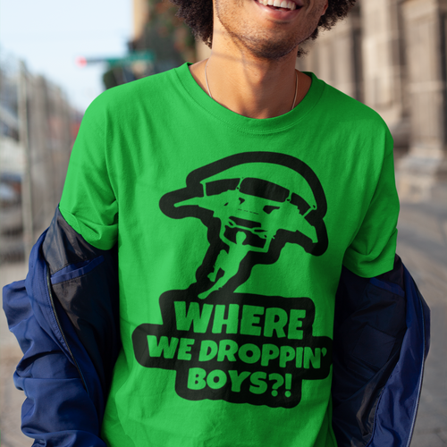 Droppin'   Fortnite Video Game T-Shirt