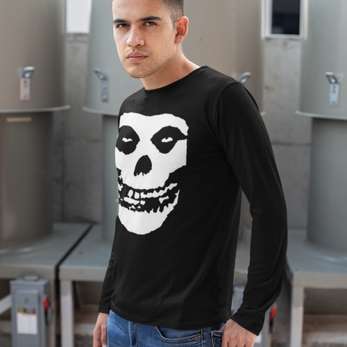 Misfits Fiend Skull Long Sleeve Band T-Shirt