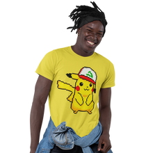 Load image into Gallery viewer, Pikachu Hat Pokemon Video Game T-Shirt