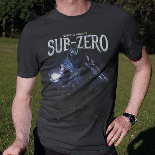 Sub Zero Mortal Kombat Video Game T-Shirt