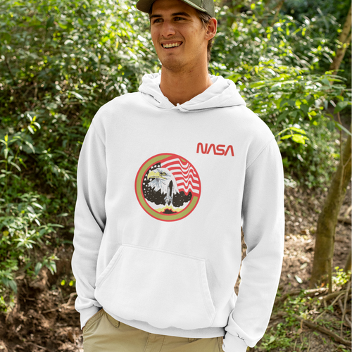 NASA Space Shuttle Eagle Take-Off Commemorative Hoodie Sweatshirt