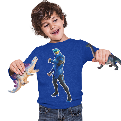 Ninja  Kid's Long Sleeve Fortnite Video Game T-Shirt