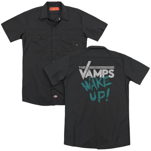 The Vamps Wake Up (Back Print) Work Band T-Shirt