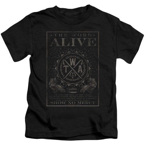 The Word Alive Show No Mercy Kids Band T-Shirt