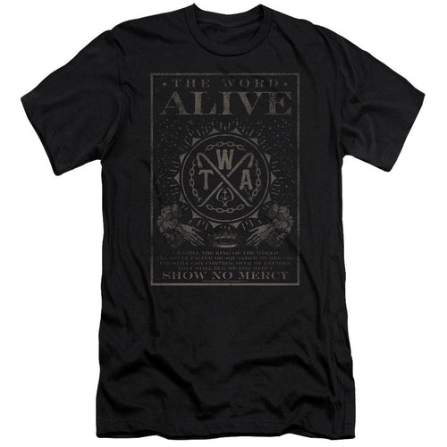 The Word Alive Show No Mercy Slim Fit Band T-Shirt