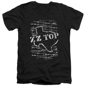 Zz Top Barbed V Neck Band T-Shirt
